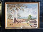 Sale 9036 - Lot 2017 - Dodie Warner Country NSW oil on board, Frame: 53 x 68 cm, signed lower left