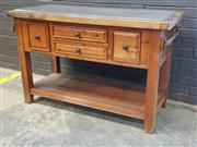 Sale 9043 - Lot 1007 - Kitchen Bench With Granite Top (h:86 x w:137 x d:60cm)