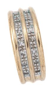 Sale 9071F - Lot 19 - A 9CT GOLD RING, set with cubic zirconias, wt 4.72g