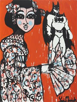 Sale 9157A - Lot 5031 - YOSI MESSIAH (1964 - ) The Beauty Within, 2020 mixed media on board (unframed) 100 x 75 cm signed lower right, dated and titled verso