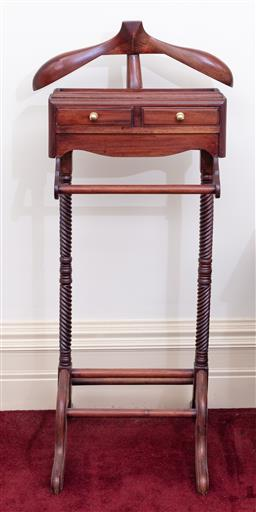 Sale 9190H - Lot 296 - A gentleman's valet with two drawers, Height of back 119cm