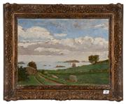 Sale 8088A - Lot 29 - French impressionist school -- signed ' G.Frases' Titled verso ' Les moutons du nord' oil on panel   size 33 x 48 cm