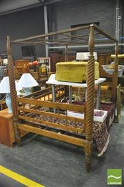 Sale 8359 - Lot 1727 - Large Timber Four Poster Bed