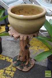 Sale 8532 - Lot 1241 - Tree Form Garden Stand with Planter