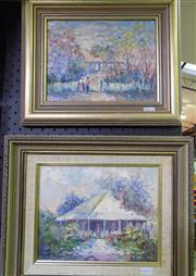 Sale 8563T - Lot 2072 - R. Christensen (2 works) Barossa Valley Scenes, oil on canvas on board, each 18.5 x 24cm, signed lower right