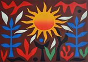 Sale 8607A - Lot 5009 - John Coburn (1925 - 2006) - Sun in the Garden, 1988 53 x 74cm (image size)