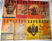 Sale 8639 - Lot 63 - Life Magazine (a Record for Busy Folk) , War Numbers, published by T Shaw Fitchett Melbourne. 8 Magazines - March,May June and Decem...