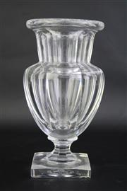 Sale 8827D - Lot 5 - Baccarat Crystal cut Crystal Vase (Chipped to Base) H: 18cm