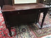 Sale 8882 - Lot 1081 - Late 19th Century Cedar Hall Table, with single drawer & turned legs