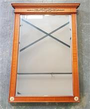 Sale 8993 - Lot 1029 - French Style Probably Mahogany Mirror, with brass mounts (h:84 x w:60cm)