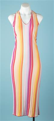 Sale 9027F - Lot 84 - A Missoni halter neck tube maxi dress in a colourful candy stripe pattern, size XS