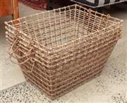 Sale 9060H - Lot 73 - A set of five metal oyster baskets. Each width 50cm.