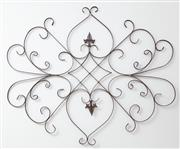 Sale 9070H - Lot 159 - A Decorative iron wall hanging, height 100cm x Width 120cm