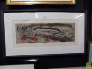 Sale 8407T - Lot 2061 - Artist Unknown - Limia II, coloured etching, ed. 50/75, frame size: 46 x 84.5cm, signed lower right