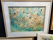 Sale 8491 - Lot 2048 - Essie Nangle Shell Collage Mixed Media 65x79cm