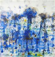 Sale 8549 - Lot 527 - John Olsen (1928 - ) - Wet Season 83.5 x 80.5cm