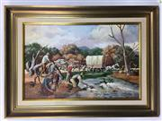 Sale 8562R - Lot 150 - Robert Young, Oil on Board (69cm x 44.5cm)