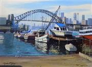 Sale 8563T - Lot 2070 - Michael McCarthy The Harbour Bridge from Lavender Bay, oil on canvas board, 29.5 x 39.5cm, signed lower left