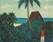 Sale 8692 - Lot 567 - Ray Crooke (1922 - 2015) - Fijian Landscape 50 x 39cm