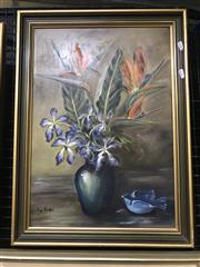 Sale 9028 - Lot 2069 - Ivy Bushell, Still Life, acrylic on board, 60 x 44cm (frame), signed lower left