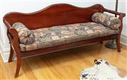 Sale 9070H - Lot 148 - A cedar miners couch with upholstered long cushion and bolsters, Height 91cm x Width 204cm x Depth 64cm