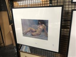 Sale 9152 - Lot 2049 - Paul Williams Reclining Nude, pastel, frame: 50 x 60 cm, signed lower right -