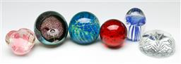 Sale 9190 - Lot 64 - A collection of art glass paperweights (H:9cm)