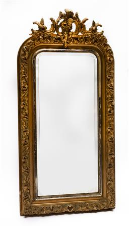Sale 9200P - Lot 83 - An antique French mirror, c1850, Height 150cm x Width 70cm