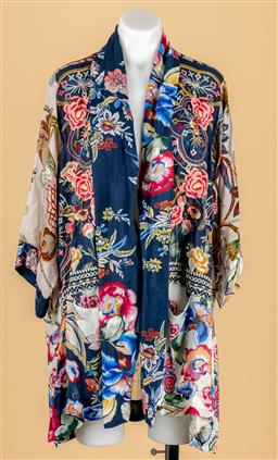 Sale 9250F - Lot 33 - A Johnny Was silk open top with floral design, size M.