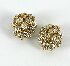 Sale 3701 - Lot 418 - A PAIR OF 18CT WHITE AND YELLOW GOLD DIAMOND EARRINGS;