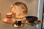 Sale 7953 - Lot 42 - Collection of China incl Mintons Hand Painted C/S, Shelley Bowl, Limoges Plate, etc