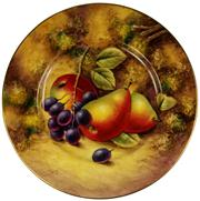 Sale 8065 - Lot 83 - Royal Worcester Painted Fruit Plate by John Smith
