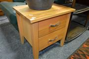 Sale 8115 - Lot 1434 - Timber Bedside w 2 Drawers