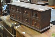 Sale 8277 - Lot 1062 - Timber Spice Cabinet with Eight Drawers