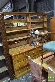 Sale 8326 - Lot 1678 - Pine Buffet and Hutch