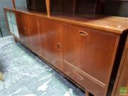 Sale 8493 - Lot 1098 - Retro Sideboard with Two Glass Sliding Doors