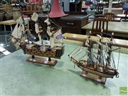 Sale 8532 - Lot 1029 - Pair of Model Frigates Bounty and Cutty Sark