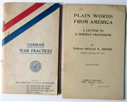 Sale 8639 - Lot 65 - Two American Booklets about the War
