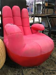 Sale 8782 - Lot 1358 - Modern Red Leather Hand Chair