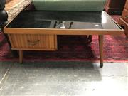 Sale 8817 - Lot 1016 - Retro Coffee Table with Black Glass Top