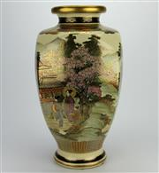 Sale 8139 - Lot 90 - Satsuma Four Sided Vase