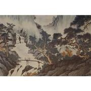 Sale 8323 - Lot 1006 - Artist Unknown (XX) (Chinese School) - Landscape 92 x 173cm