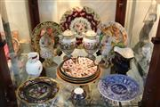 Sale 8362 - Lot 237 - Wedgwood Cabinet Water Lily Plate with another & other Ceramics incl. Coalport