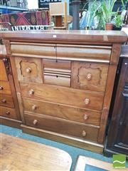Sale 8428 - Lot 1083 - Late 19th Century Cedar Chest of Eight Drawers (some cracking)