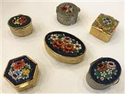 Sale 8436A - Lot 29 - A group of six millefiori lidded pill boxes.