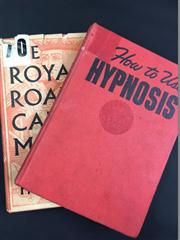 Sale 8539M - Lot 35 - 2 vols: Dr David Tracy, 'How to Use Hypnosis'. London: Arco. Red cloth hardcover, Cec Cook's Magic Shop catalogue within; T/W Jean H