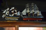 Sale 8532 - Lot 1297 - Pair of Model Ships