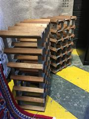 Sale 8782 - Lot 1744 - Two Similar Timber & Metal Wine Racks