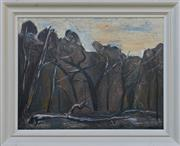 Sale 8940J - Lot 10 - Fred Williams (1927 - 1982) - Landscape, oil on board, 53x69cm, signed lower right.