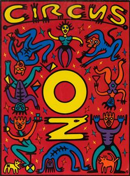 Sale 9256A - Lot 5173 - MICHAEL CALLAHAN Circus OZ, 1994 poster (mounted/unframed) mount: 42 x 30 cm unsigned